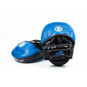 Лапи боксерські PowerPlay 3030 Синьо-Чорні PU [пара] - фото 2