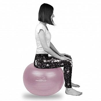 М'яч для фітнесу PowerPlay 4001 75см Фіолетовий + насос - фото 2