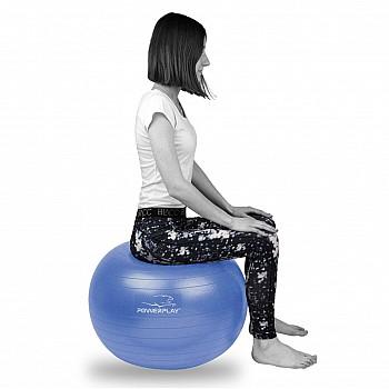 М'яч для фітнесу PowerPlay 4001 65см Синій + насос - фото 2