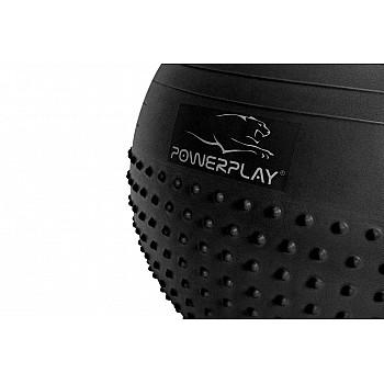 М'яч для фітнеса PowerPlay 4003 75см Темно сірий - фото 2