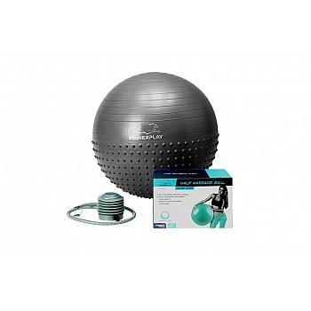 М'яч для фітнеса PowerPlay 4003 75см Темно сірий