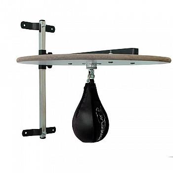 Пневмогруша боксерская PowerPlay 3061 черная кожа, M - фото 2