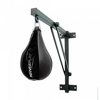 Пневмогруша боксерская PowerPlay 3061 черная кожа, L - фото 2