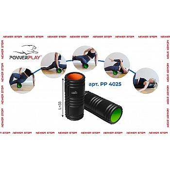 Масажний ролик PowerPlay 4025 Чорно-Оранжевий - фото 2