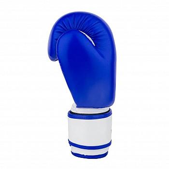 Боксерські рукавиці PowerPlay 3004 JR Синьо-білі 8 унцій - фото 2