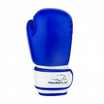Боксерські рукавиці PowerPlay 3004 JR Синьо-білі 6 унцій - фото 2