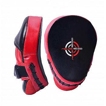 Лапи боксерські PowerPlay 3041 Чорно-Червоні PU [пара]
