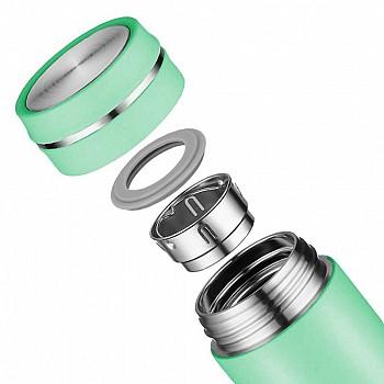 Термопляшка CASNO 450 мл KXN-6059 Зелена - фото 2