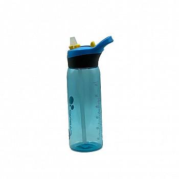 Пляшка для води CASNO 750 мл KXN-1207 Блакитна з соломинкою - фото 2