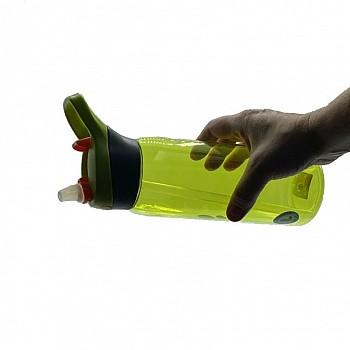 Пляшка для води CASNO 750 мл KXN-1207 Зелена з соломинкою - фото 2