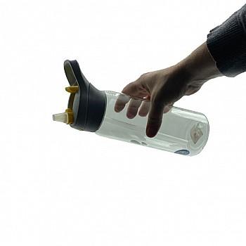 Пляшка для води CASNO 750 мл KXN-1207 Сіра з соломинкою - фото 2