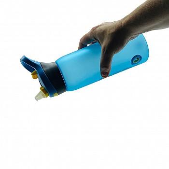 Пляшка для води CASNO 750 мл KXN-1210 Блакитна з соломинкою - фото 2