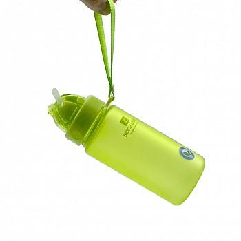 Пляшка для води CASNO 400 мл MX-5028 More Love Зелена з соломинкою - фото 2