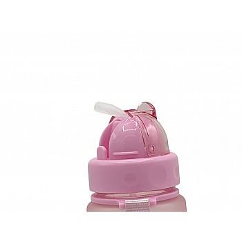 Пляшка для води CASNO 400 мл MX-5028 More Love Рожева з соломинкою - фото 2