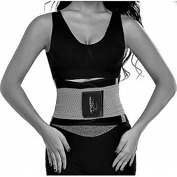 Пояс-корсет для схуднення  PowerPlay 4305 Чорно-сірий 100*24 см
