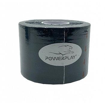Кінезіологічний тейп PowerPlay 4315 Чорний 5*5м - фото 2