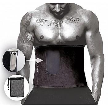 Пояс для схуднення PowerPlay 4301 (100*30) Чорний+кишеня для смартфона