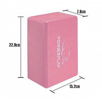 Блок для йоги PowerPlay 4006 Yoga Brick Рожевий - фото 2