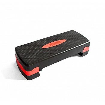 Cтеп-платформа PowerPlay 4328 (2 рівні 10-15 см) Чорно-червона