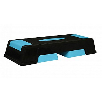 Cтеп-платформа PowerPlay 4329 (3 уровня 12-17-22 см) черно-голубая - фото 2