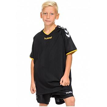 Футболка детская Hummel STAY AUTHENTIC POLY JERSEY черно-желтая