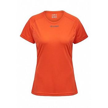 Футболка Hummel RUNNER WO SS TEE оранжевая