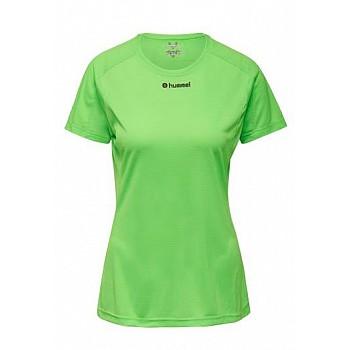 Футболка Hummel RUNNER WO SS TEE зеленая