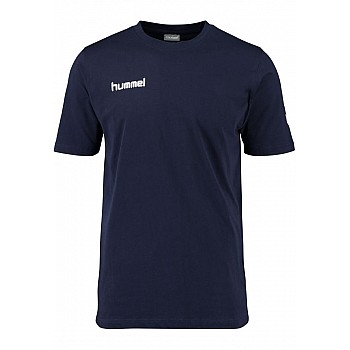 Футболка Hummel CORE COTTON TEE темно-синяя