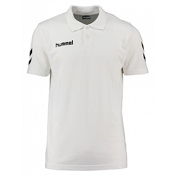 Футболка Hummel CORE COTTON POLO белая