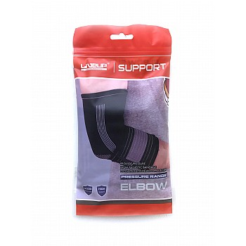 Фиксатор локтя LiveUp ELBOW SUPPORT черно-серый