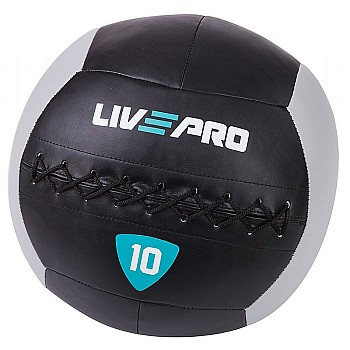 Мяч для кроcсфита LivePro WALL BALL черный/серый 10 кг