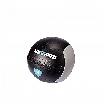 Мяч для кроcсфита LivePro WALL BALL 5 кг черный/серый