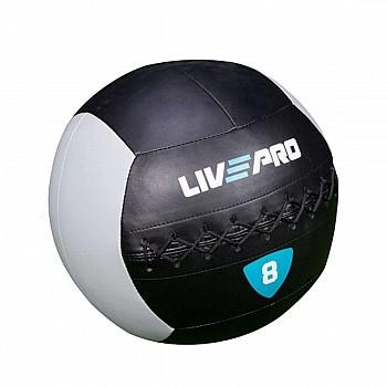 Мяч для кросcфита LivePro WALL BALL черный/серый 8 кг