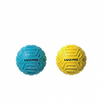 Набор мячиков для массажа LivePro Foot Massage Ball голубой/желтый 2 шт.