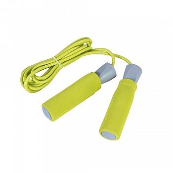 Скакалка LiveUP PVC FOAM HANDLE JUMP ROPE  желтый