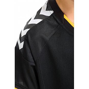 Футболка детская Hummel STAY AUTHENTIC POLY JERSEY черно-желтая - фото 2