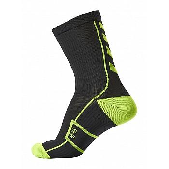 Носки функциональные Hummel TECH INDOOR SOCK LOW черно-зеленые - фото 2