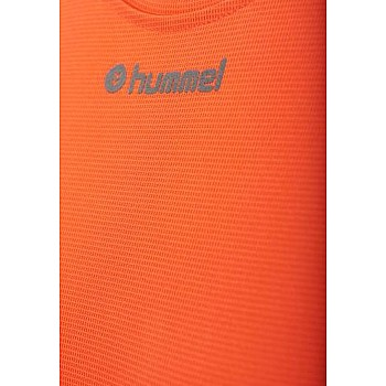 Футболка Hummel RUNNER WO SS TEE оранжевая - фото 2
