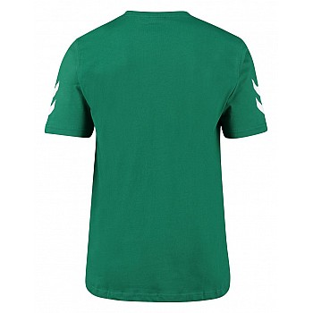 Футболка Hummel CORE COTTON TEE зеленая - фото 2