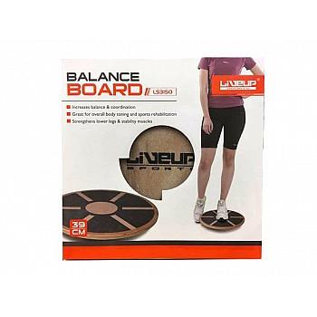 Баланс-борд деревянный LiveUp BALANCE BOARD, LS3150 - фото 2