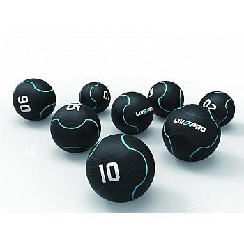 Медбол Livepro SOLID MEDICINE BALL черный 10кг - фото 2