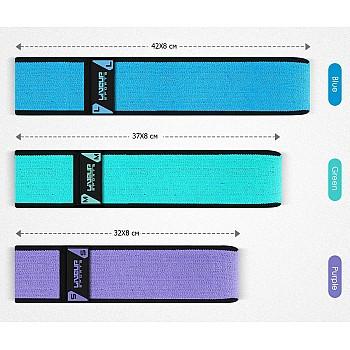 Эспандер для пилатеса  LiveUp  HIP BAND  фиолетовый - фото 2