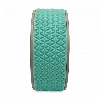 Колесо для йоги и фитнеса LiveUp YOGA RING голубой - фото 2