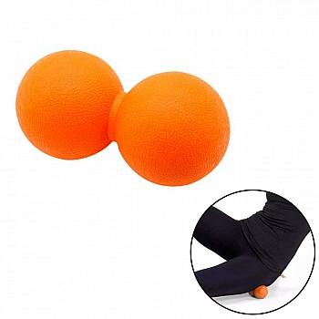Мячик двойной для массажа  LivePro THERAPY MASSAGE PEANUT BALL оранжевый - фото 2
