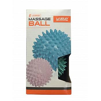 Набор массажных мячей 2 шт. LiveUp MASSAGE BALL - фото 2