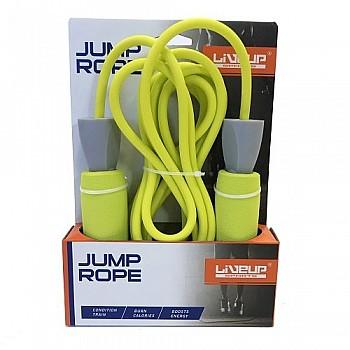 Скакалка LiveUP PVC FOAM HANDLE JUMP ROPE  желтый - фото 2