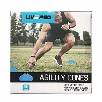 Координационные фишки LivePro Agility Cones 12 шт - фото 2