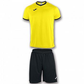Комплект футбольной формы Joma ACADEMY жёлто-чёрный футболка и шорты