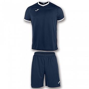 Комплект футбольной формы Joma ACADEMY тёмно-сине-белый