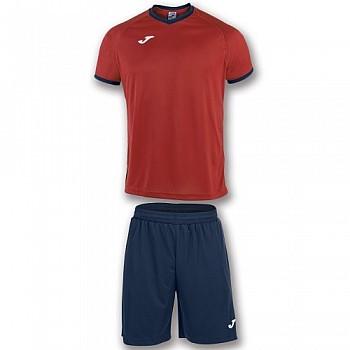 Комплект футбольной формы Joma ACADEMY красно-тёмно-синий футболка и шорты